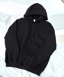 ギルダン USAオーバーサイズ ロングスリーブ プルオーバー パーカー (裏起毛)ブラック