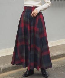 tiptop(ティップトップ)の大柄チェックフレアロングスカート(スカート)