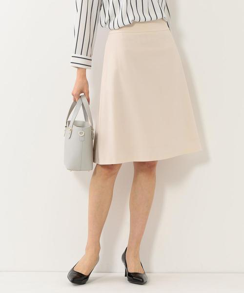 <closet story>□トロミ フレアスカート -手洗い可能-