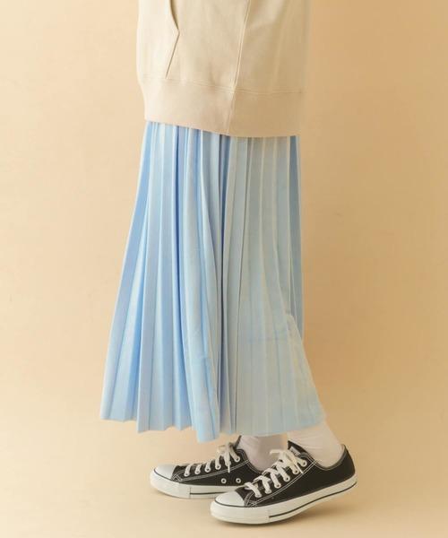 ITEMS URBANRESEARCH(アイテムズ アーバンリサーチ)の「プリーツスカート(スカート)」|ブルー