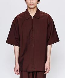 <LOWNN> IVER ZIP SHT/ジップシャツ