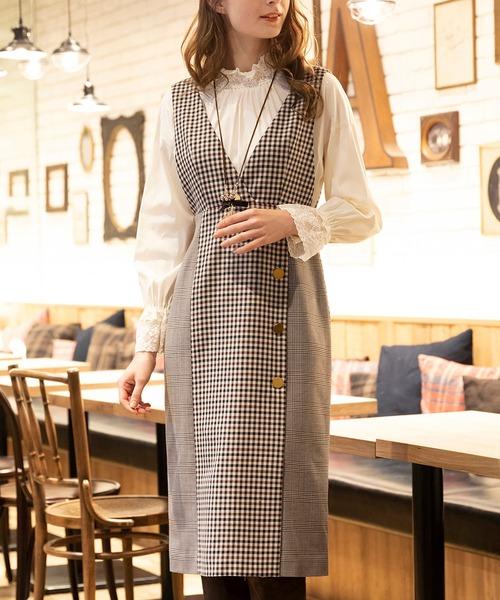 超爆安 Roseクラシカルチェックジャンパースカート(ジャンパースカート) Rose Tiara(ローズティアラ)のファッション通販, 掃除用品蛍光管のTストア:6065b13a --- kredo24.ru