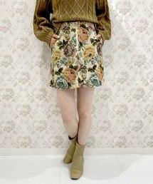 archives e'pice(アルシーヴエピス)の《限定item》ゴブランレオパード&花柄ミニスカート(スカート)