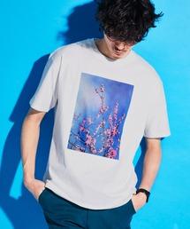 ロゴ×ARTプリントオーバーサイズクルーネック半袖Tシャツ/Radiant/SURF/LADY/FLOWER/MESSAGEホワイト系その他5