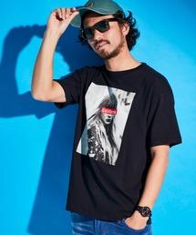 ロゴ×ARTプリントオーバーサイズクルーネック半袖Tシャツ/Radiant/SURF/LADY/FLOWER/MESSAGEブラック系その他2