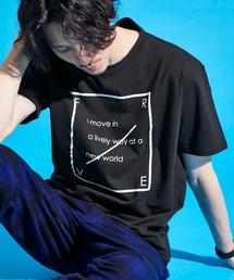 ロゴ×ARTプリントオーバーサイズクルーネック半袖Tシャツ/Radiant/SURF/LADY/FLOWER/MESSAGEブラック系その他3