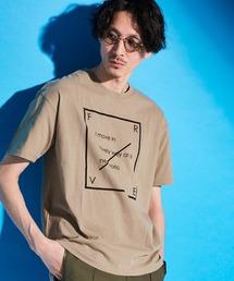 ロゴ×ARTプリントオーバーサイズクルーネック半袖Tシャツ/Radiant/SURF/LADY/FLOWER/MESSAGEベージュ系その他3