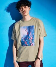 ロゴ×ARTプリントオーバーサイズクルーネック半袖Tシャツ/Radiant/SURF/LADY/FLOWER/MESSAGEベージュ系その他5