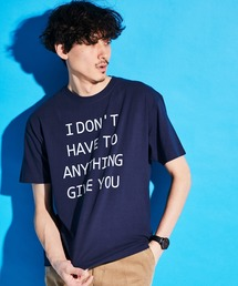 ロゴ×ARTプリントオーバーサイズクルーネック半袖Tシャツ/Radiant/SURF/LADY/FLOWER/MESSAGEブルー系その他4