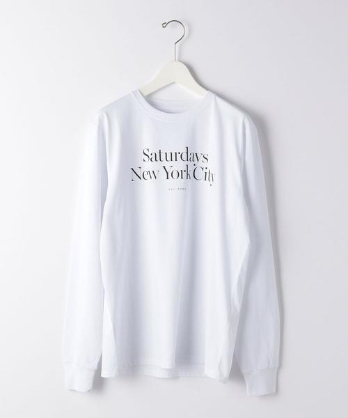 [ サタデーズ NYC ] Saturdays NYC MILLER/STD 長袖 Tシャツ