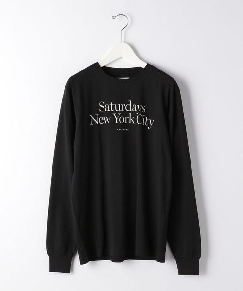 [ サタデーズ NYC ] Saturdays NYC MILLER/STD 長袖 Tシャツ