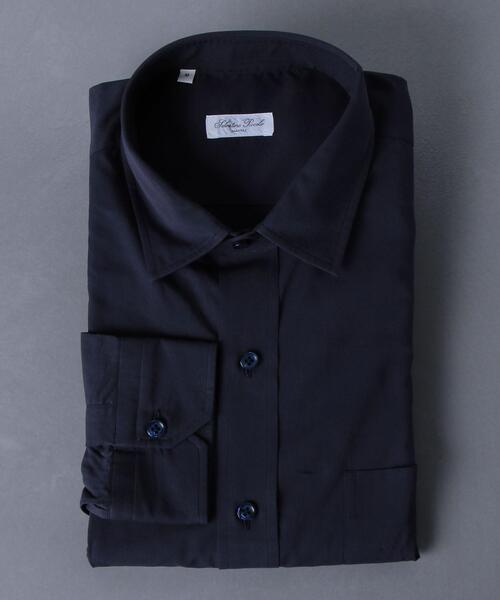 <Salvatore Piccolo(サルヴァトーレ ピッコロ)> ワイドボディ セミワイドカラー シャツ