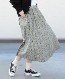 LE GLAZIK / ル グラジック プリントスカート PRINT SKIRT JL-5076グレー