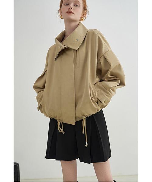 【Fano Studios】【2021AW】drawstring drop shoulder short jacket FX21W025