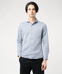 MEN'S MELROSE(メンズ メルローズ)のサッカージャージーホリゾンタルカラーシャツ(シャツ/ブラウス)