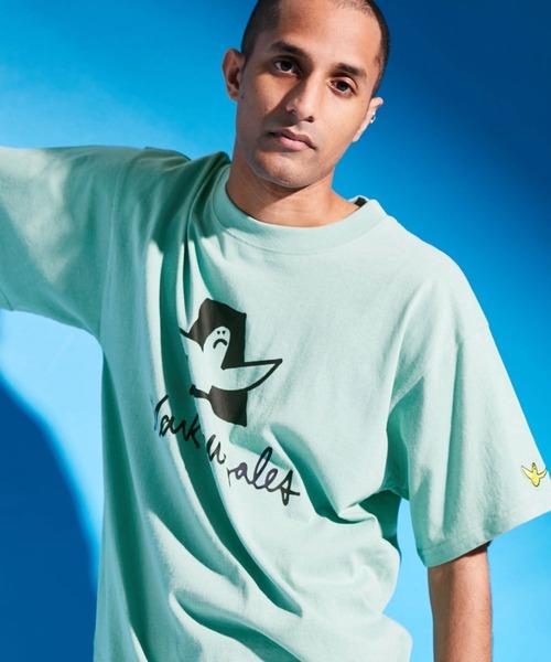 【別注】MARK GONZALES×ALU STANDARD/マークゴンザレス ビッグシルエットロゴ刺繍×BIGプリント 半袖Tシャツ