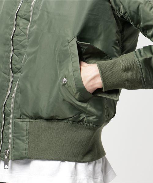 ナイロンヘビーツイルMA-1フライトジャケット