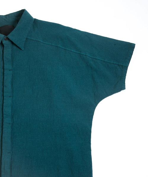 半袖ドルマンシャツ - T/Cメランジストレッチ -