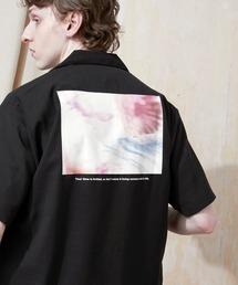 ブライト ポプリン リラックス ドレープ オープンカラー1/2 Sleeveシャツ EMMA CLOTHES 2021 SUMMERブラック系その他