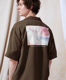 ブライト ポプリン リラックス ドレープ オープンカラー1/2 Sleeveシャツ EMMA CLOTHES 2021 SUMMERブラウン系その他