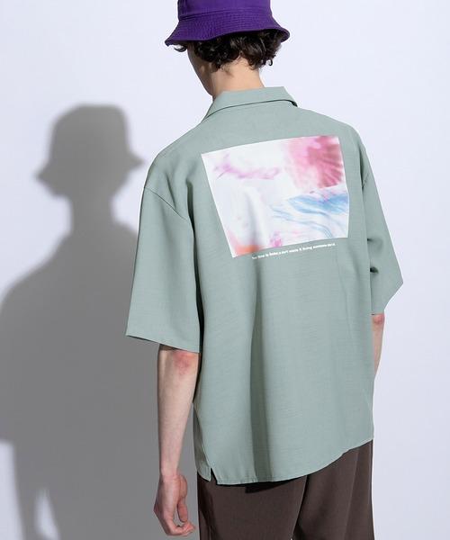 ブライト ポプリン リラックス ドレープ オープンカラーシャツ Poplin Open Collar Shirt(1/2 Sleeve)