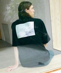 ブライト ポプリン リラックス ドレープ オープンカラー1/2 Sleeveシャツ EMMA CLOTHES 2021 SUMMERブラック系その他2