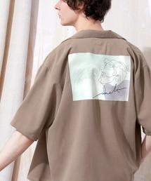 ブライト ポプリン リラックス ドレープ オープンカラー1/2 Sleeveシャツ EMMA CLOTHES 2021 SUMMERベージュ系その他5
