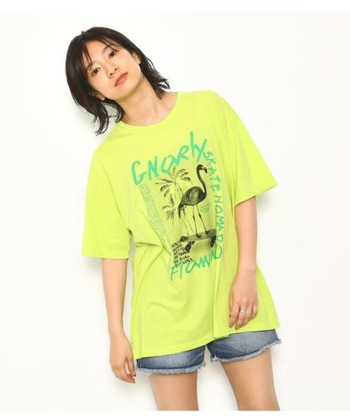 フラミンゴ デッキ Tシャツ