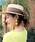 MODE ROBE(モードローブ)の「ロングリボンストローハット カンカン帽 帽子(ハット)」|ブラウン