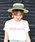 MODE ROBE(モードローブ)の「ロングリボンストローハット カンカン帽 帽子(ハット)」|グリーン