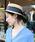 MODE ROBE(モードローブ)の「ロングリボンストローハット カンカン帽 帽子(ハット)」|詳細画像