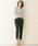 Pierrot(ピエロ)の「UVカット&お家で洗えるVネック長袖ウォッシャブルリブニット(ニット/セーター)」|詳細画像