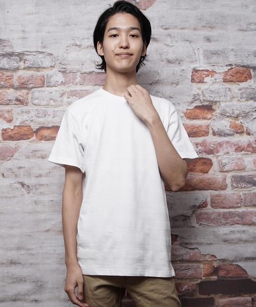 ジャガードボーダー半袖Tシャツ(IR)