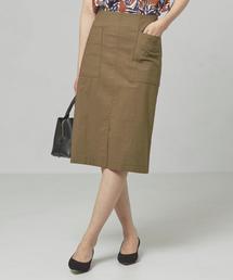 <closet story>パッチポケット Iラインスカート