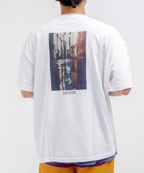 WACHO ビッグシルエット フォトプリントTシャツ ビッグTシャツ フォトT ビッグT アート アートTシャツ グラフィックTシャツ