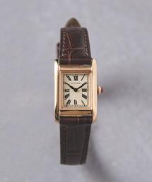 UBCB スクエア レザー 腕時計 GLD†