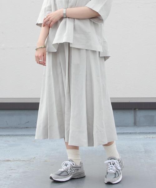 LE GLAZIK / ル グラジック リネンクロススカート LINEN CLOTH SKIRT JL-5076
