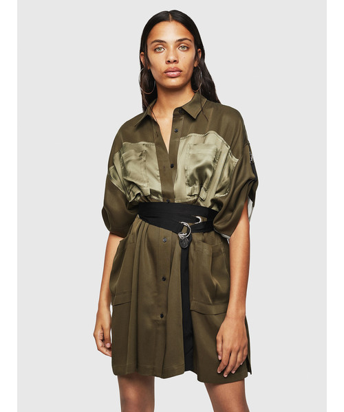 【あすつく】 レディース ドレス ドレス DIESEL 異素材ミックスシャツ ワンピース(ワンピース)|DIESEL(ディーゼル)のファッション通販, グレードワン:8225e76a --- altix.com.uy
