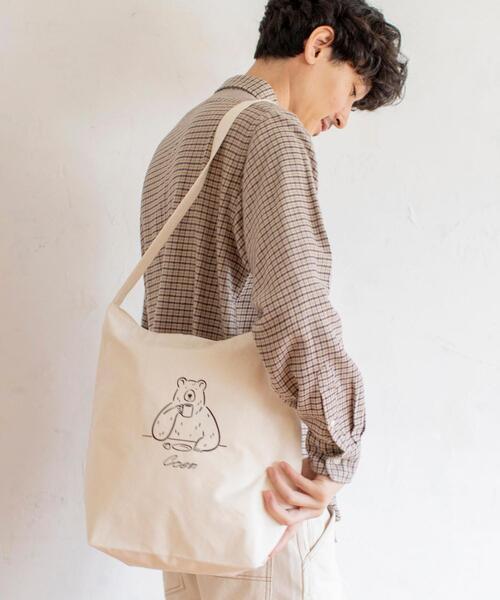 【Ryo Kaneyasu】【女性にもオススメ】コーエンベアプリントキャンパストート(エコバック/トートバッグ)
