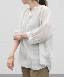 LE GLAZIK / ル グラジック ラミープルオーバーシャツ RAMIE PULLOVER SHIRT JL-3797RAMベージュ