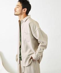 【セットアップ】テックリネン オーバーサイズ L/Sレギュラーカラーシャツ&タックバルーンワイドパンツグレー系その他