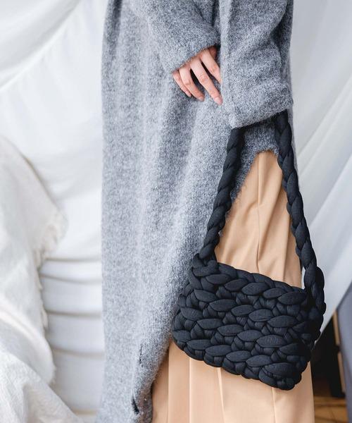 【chuclla】【2021/AW】Crochet crossbody bag cha21a007