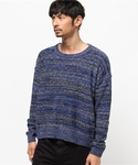 JOHN LAWRENCE SULLIVAN | MARBLE KNIT SWEATER(ニット・セーター)