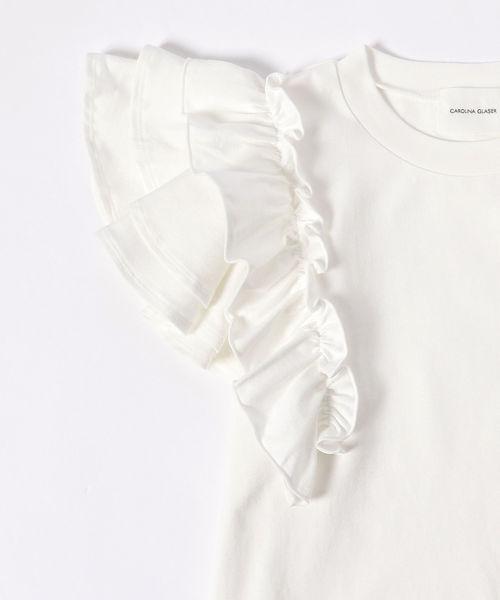 CAROLINA GLASER / フリルTシャツ