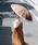 Wpc.(ダブリュピーシー)の「雨傘 16本骨切り継ぎストライプ(長傘)」|ベージュ