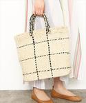 MARCHER | 【MARCHER】 WINDOWPANE TOTE BAG(かごバッグ)