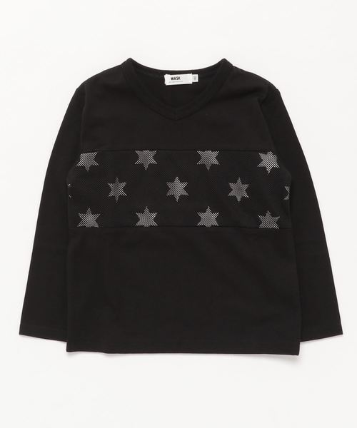 WASK/メッシュ切り替えTシャツ