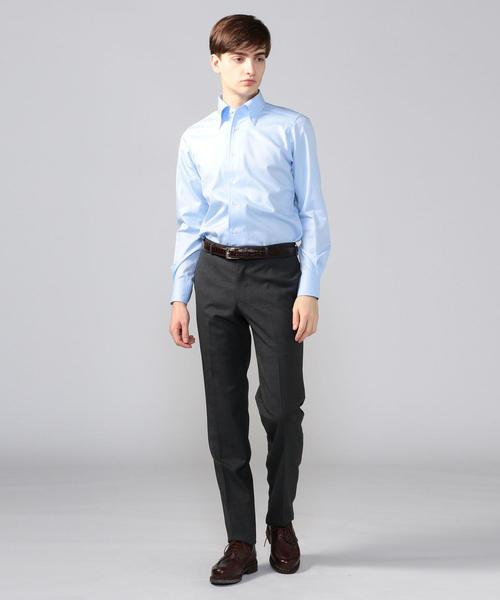120/2コットンツイル ワンピースボタンダウン ドレスシャツ