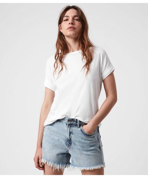 ALLSAINTS(オールセインツ)の「IMOGEN BOY T-SHIRT | イモゲン ボーイ Tシャツ(Tシャツ/カットソー)」|ホワイト