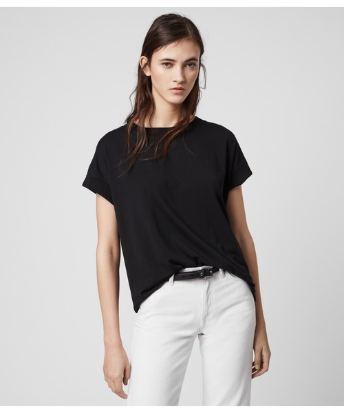 ALLSAINTS(オールセインツ)の「IMOGEN BOY T-SHIRT | イモゲン ボーイ Tシャツ(Tシャツ/カットソー)」|ブラック